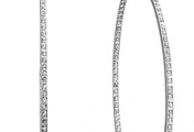 Jewelry File: Diamond Accent Hoop Earrings