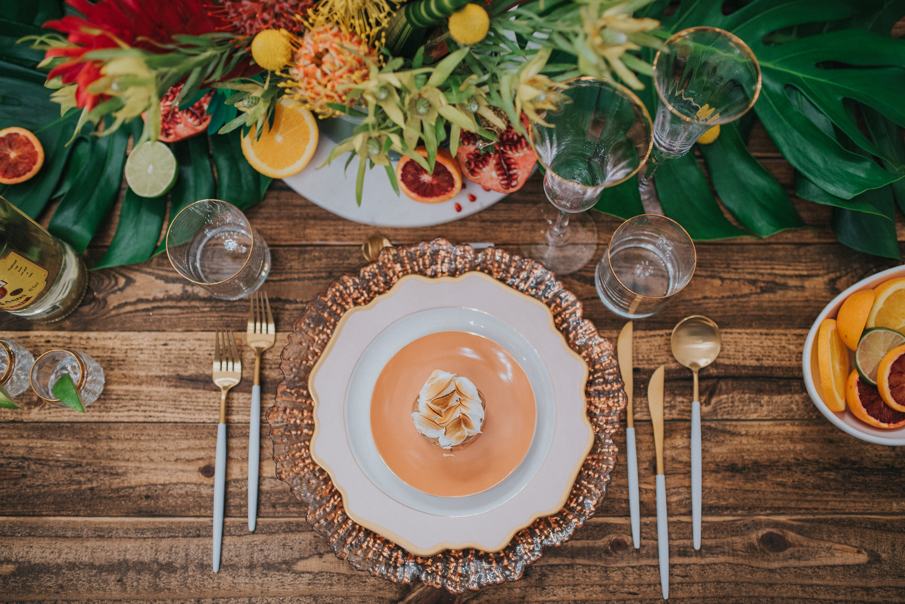 Tropical Inspired Table Setting